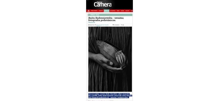 Anita Andrzejewska – uważna fotografia podróżnicza, wywiad w Digital Camera <br> Interview in Digital Camera<br>25.07.2015