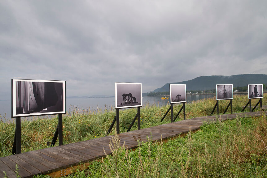 """The Wink of an Eye""-  exhibition during The Rencontres Internationales de la Photographie en Gaspésie, Canada <br>   ""The Wink of an Eye""– wystawa podczas The Rencontres Internationales de la Photographie en Gaspésie, Kanada<br>09.2017, Carleton sur Mer, Quebec, Kanada"
