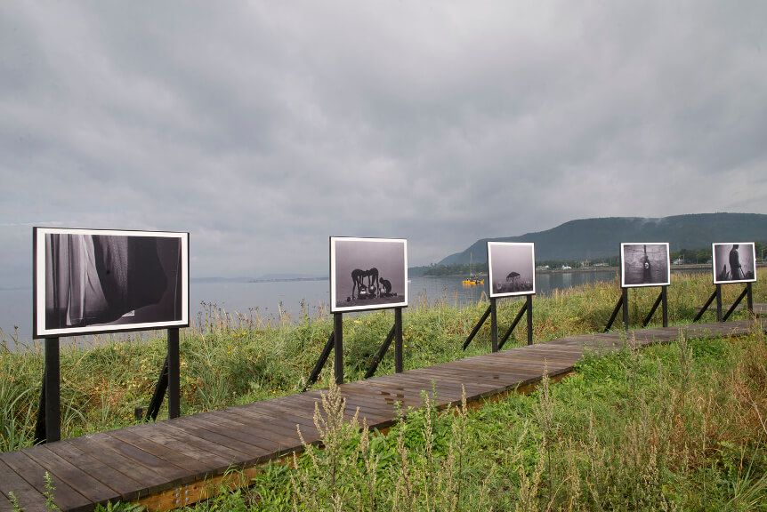 """""""The Wink of an Eye""""-  exhibition during The Rencontres Internationales de la Photographie en Gaspésie, Canada <br>   """"The Wink of an Eye""""– wystawa podczas The Rencontres Internationales de la Photographie en Gaspésie, Kanada<br>09.2017, Carleton sur Mer, Quebec, Kanada"""